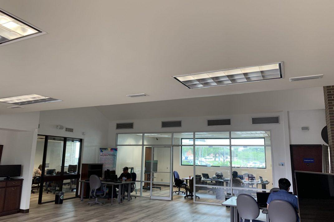 Interior layout at Dallas' HQ